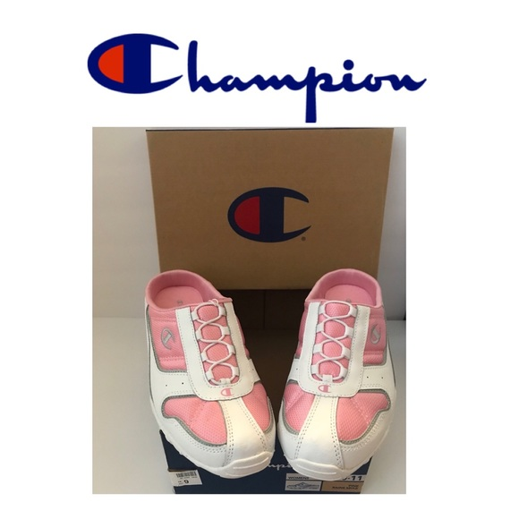 f2d3ecdf04907 Champion Pink White Backless Sneakers
